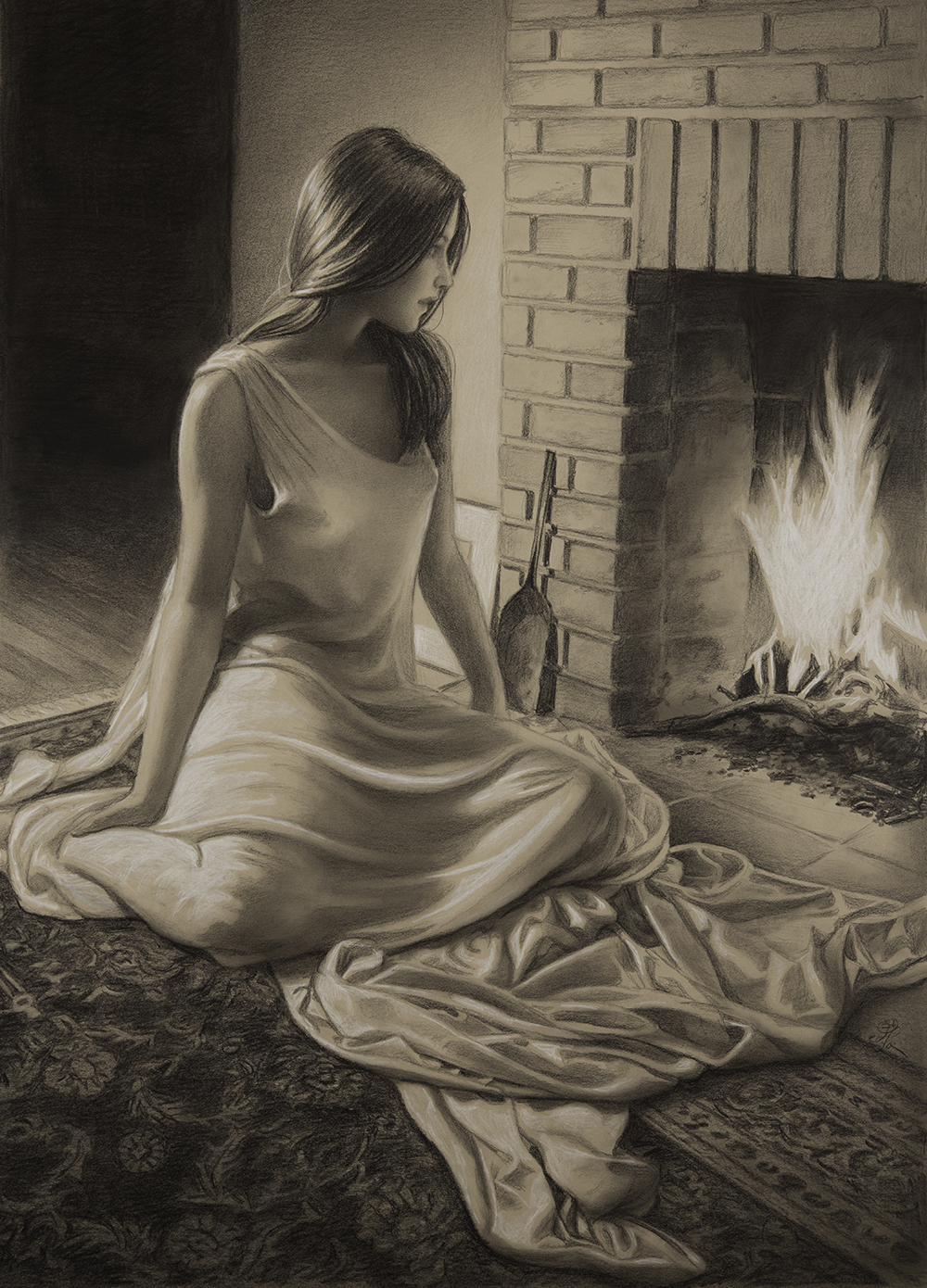 By the Fire copyright 2014 Edson Campos